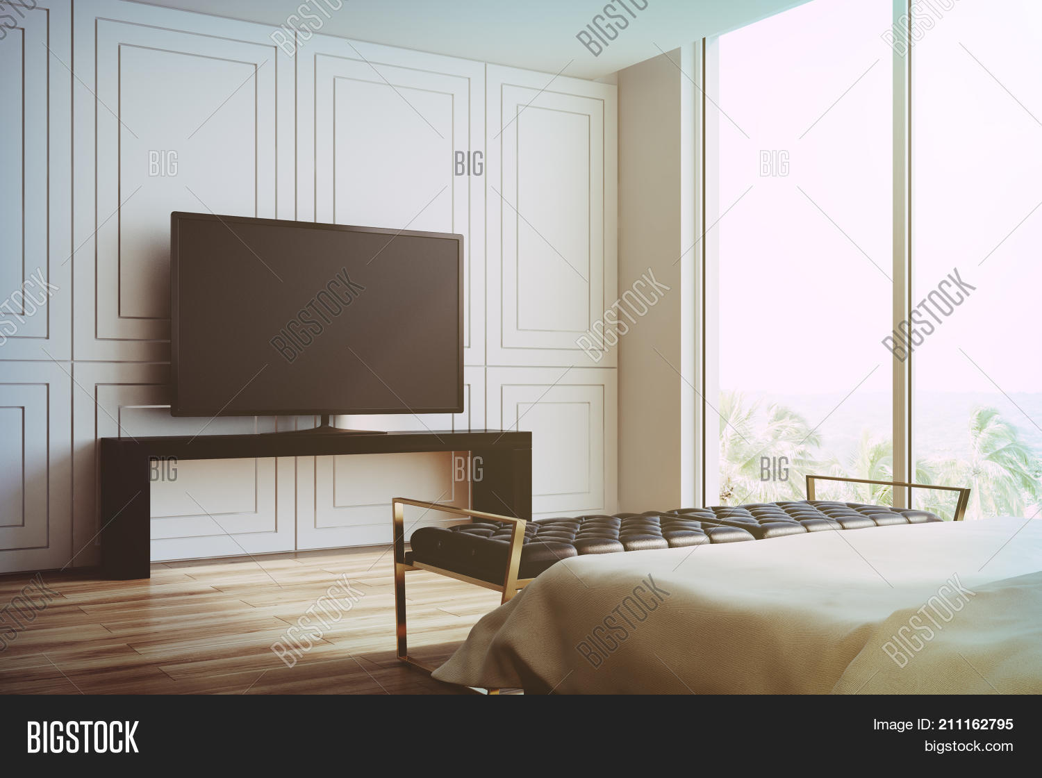 White Living Room, Tv Image & Photo (Free Trial) | Bigstock