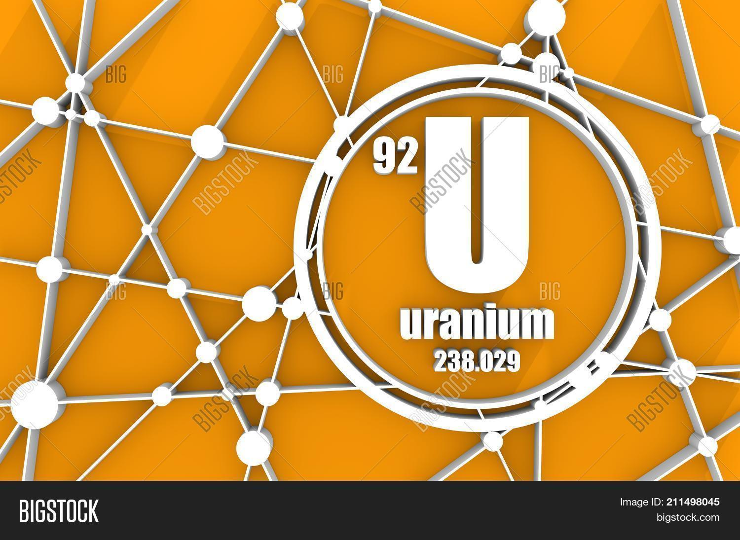 Uranium chemical image photo free trial bigstock uranium chemical element sign with atomic number and atomic weight chemical element of periodic urtaz Choice Image