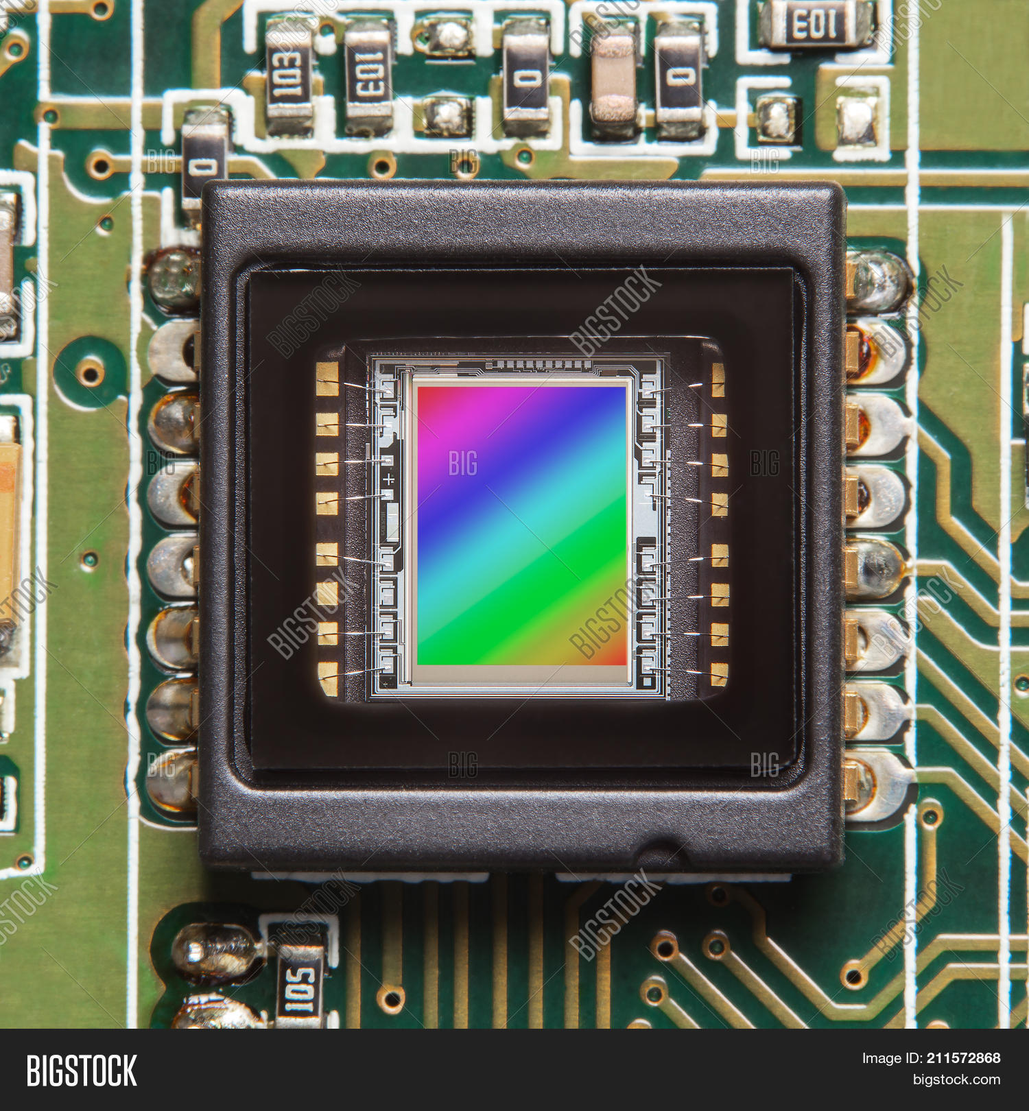 Ccd Sensor On Printed Image Photo Free Trial Bigstock As Before We Can Copy The Circuit Onto A Board And Closeup