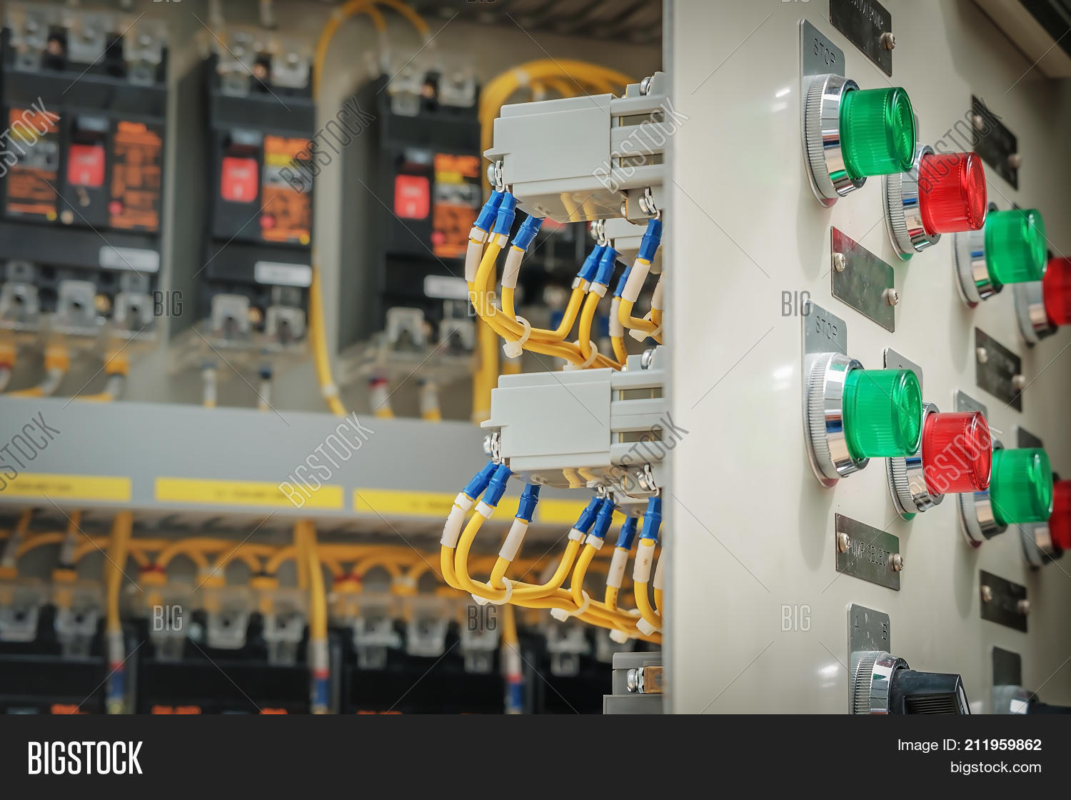 Circuit Breaker Panel Image Photo Free Trial Bigstock Wiring Board And Control In Substation Room Factory On Petrochemical Industry
