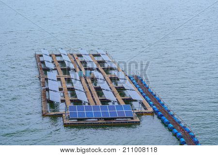 Platform for Solarcell Panel floating on the water
