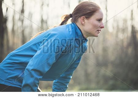 Tired Female Jogger