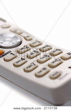 White Cordless Phone'S Keypad