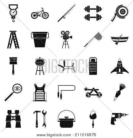 Rig icons set. Simple set of 25 rig vector icons for web isolated on white background