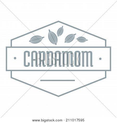 Cardamom logo. Simple illustration of cardamom vector logo for web