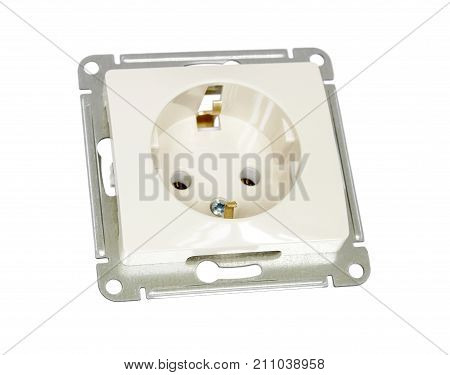 The mechanism of electrical household outlet for internal installation in a wall