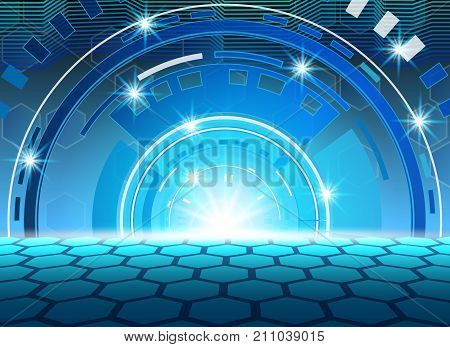 circle technology background abstract technology concept background vector illustration.