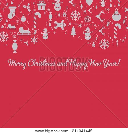 Merry Christmas And Happy New Year Christmas Advertisement Card