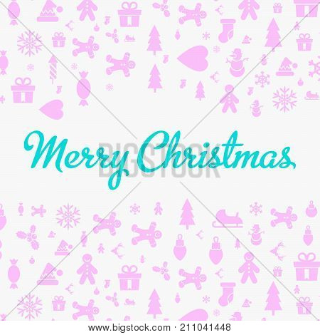 Merry Christmas And Happy New Year Christmas Greeting Card