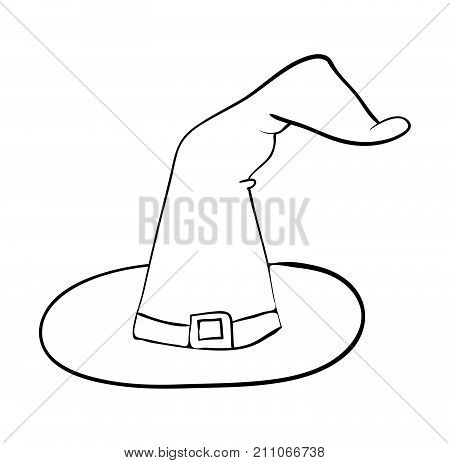 Witch Hat Cartoon Silhouette Vector Symbol Icon Design. Beautiful Illustration Isolated On White Bac