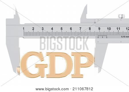 GDP gross domestic product measuring concept 3D rendering isolated on white background