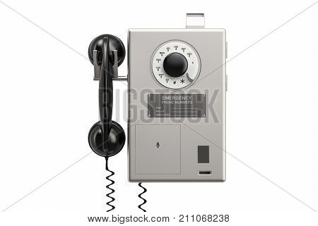 Payphone 3D rendering isolated on white background