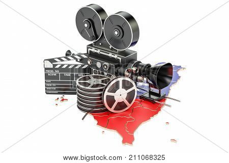 Taiwan cinematography film industry concept. 3D rendering isolated on white background