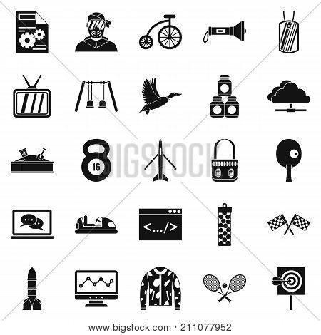 Aim icons set. Simple set of 25 aim vector icons for web isolated on white background