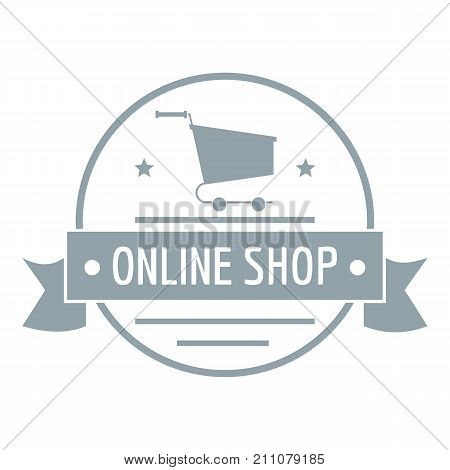 E commerce logo. Simple illustration of e commerce vector logo for web