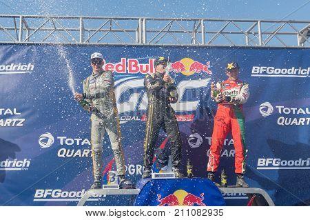 Tanner Foust, Scott Speed, Patrik Sandell During The Red Bull Grc