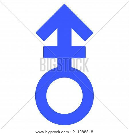 Third Gender Symbol flat vector icon. An isolated icon on a white background.