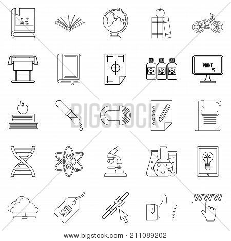 Instruction icons set. Outline set of 25 instruction vector icons for web isolated on white background