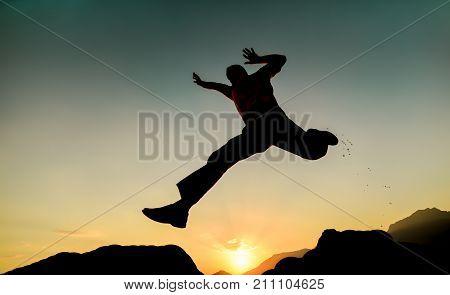spring & energetic & enthusiastic man & dynamism