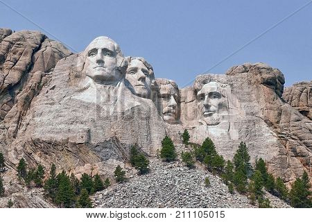 Keystone, USA, 2017.09.09: The Mount Rushmore National Memorial in the USA.