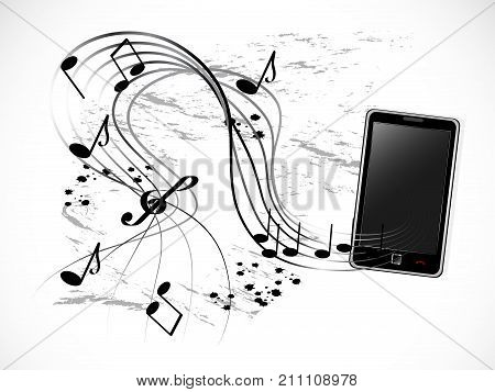 Telephone receiver with notes - vector illustration