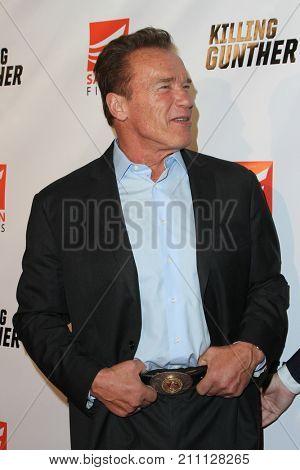 LOS ANGELES - OCT 14:  Arnold Schwarzenegger at the