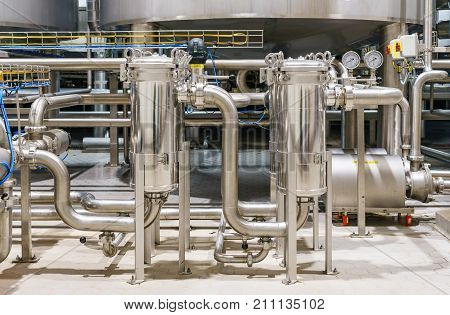 Plant for the production of beverage. Fresh beverage production and Mixing line.