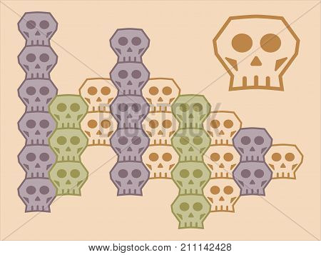 A Loopable Vector Skull Module Element For Tessellation Pattern