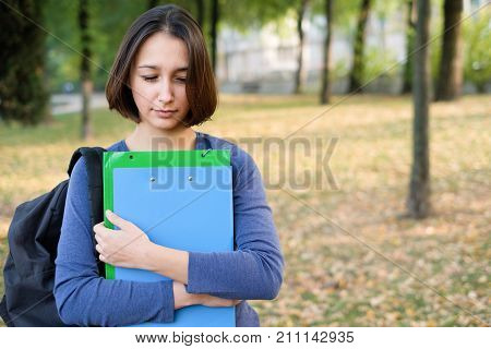 Worried And Flunked Student After Failure At School