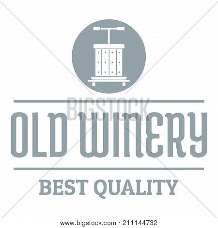 Quality old winery logo. Simple illustration of quality old winery vector logo for web