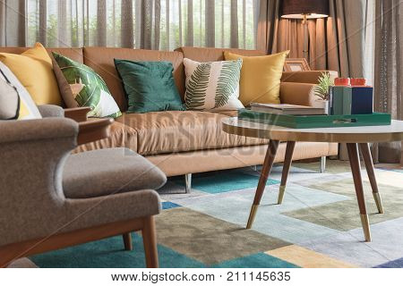 Modern Living Room Style With Set Of Pillow
