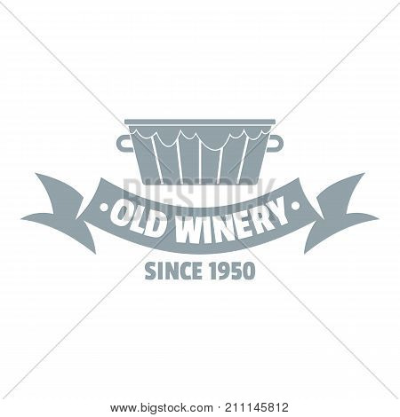 Factory winery logo. Simple illustration of factory winery vector logo for web