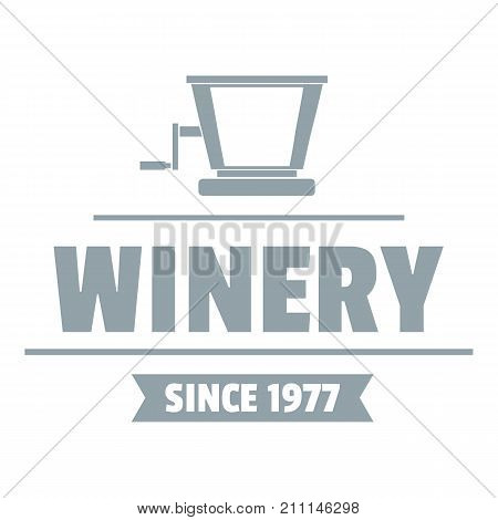 Factory old winery logo. Simple illustration of factory old winery vector logo for web