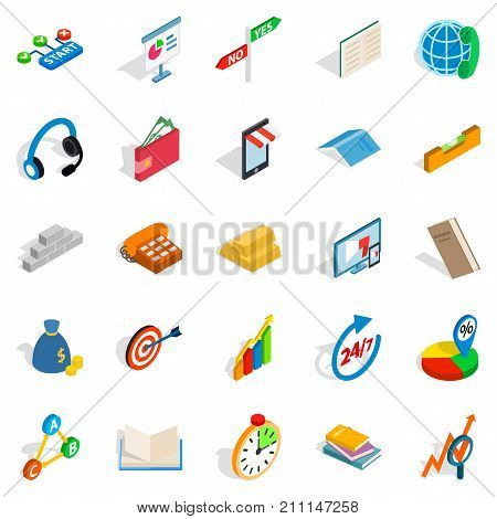 Collective icons set. Isometric set of 25 collective vector icons for web isolated on white background