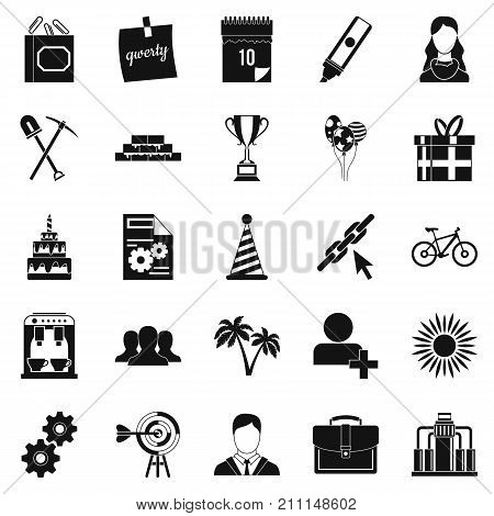 General icons set. Simple set of 25 general vector icons for web isolated on white background