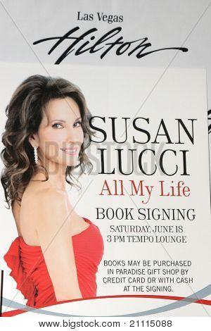 LAS VEGAS - JUN 18:  Susan Lucci Poster at the booksigning for