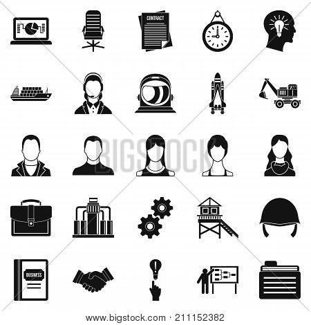 Massive case icons set. Simple set of 25 massive case vector icons for web isolated on white background