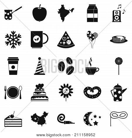 Kettle drum icons set. Simple set of 25 kettle drum vector icons for web isolated on white background
