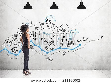 African American Woman In Jeans, Business Plan