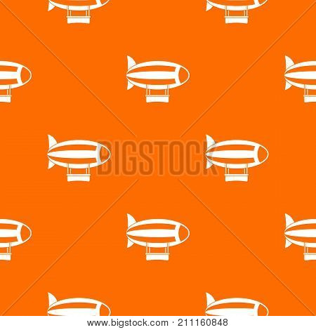Striped dirigible pattern repeat seamless in orange color for any design. Vector geometric illustration