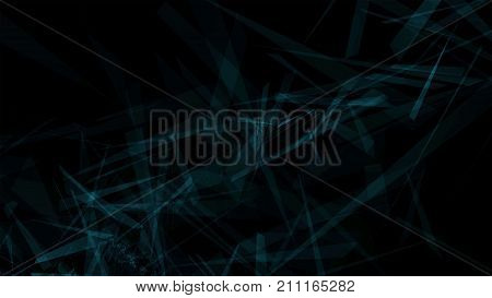 abstract background with flying shrapnel on black background with copy space