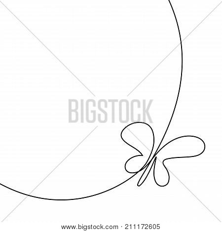 Continuous Line Butterfly