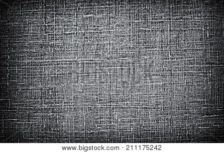 Dark natural linen material texture abstract background