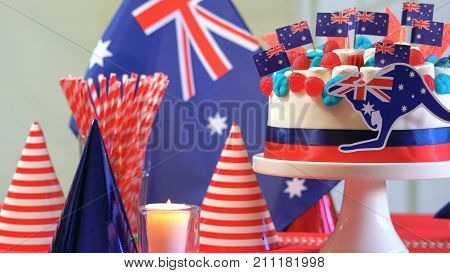 Australian Celebration Party Table With Showstopper Cake