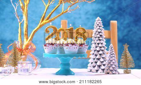 Happy New Year 2018 Cupcakes
