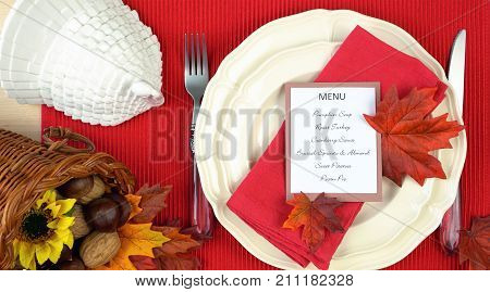 Thanksgiving Table Close Up