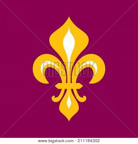 Fleur-de-lys (Flower de luce), Royal heraldic Lily. The symbol of Royal power and the emblem of Reign.