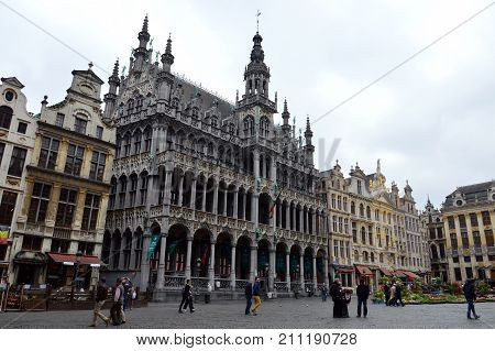 Brussels, Belgium - April 2015: Maison Du Roi, A Neo-gothic Style Building Housing Brussels City Mus