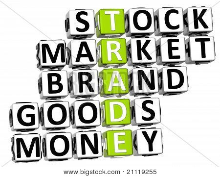 3D Trade Market Stock Crossword
