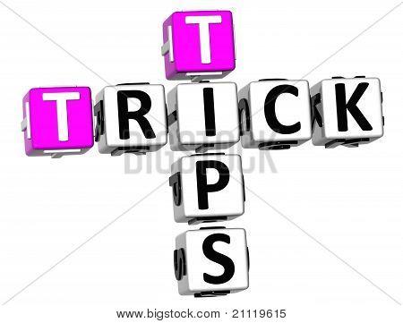 3D Trick Tips Crossword
